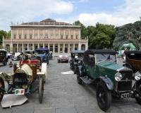 June 4, 2016: the car Museum and Scuderia expose in front of the theater of Reggio Emilia
